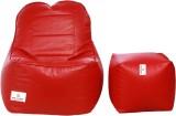 Star XXXL Lounger Bean Bag Cover (Red)