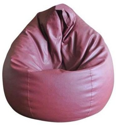 TJAR XXL Leather Cover Teardrop Bean Bag  Cover (Without Filling)