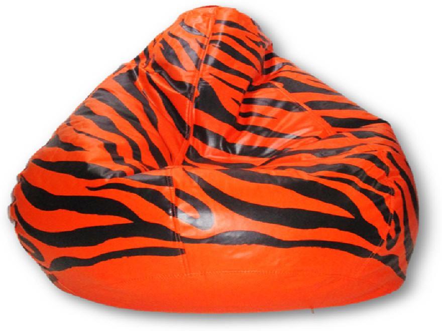 View Sudesh Handloom XXL Bean Bag Cover(Orange, Black) Furniture (Sudesh Handloom)