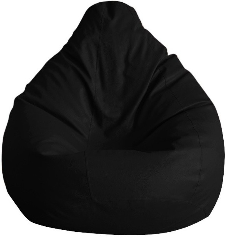 Comfort XXL Bean Bag With Bean Filling(Black)