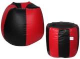 Star XL Teardrop Bean Bag Cover (Black, ...