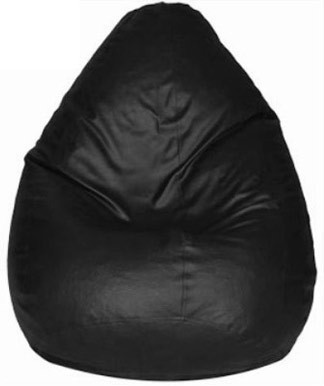 View Plush Products XXXL Bean Bag Cover(Black) Furniture (Plush Products)