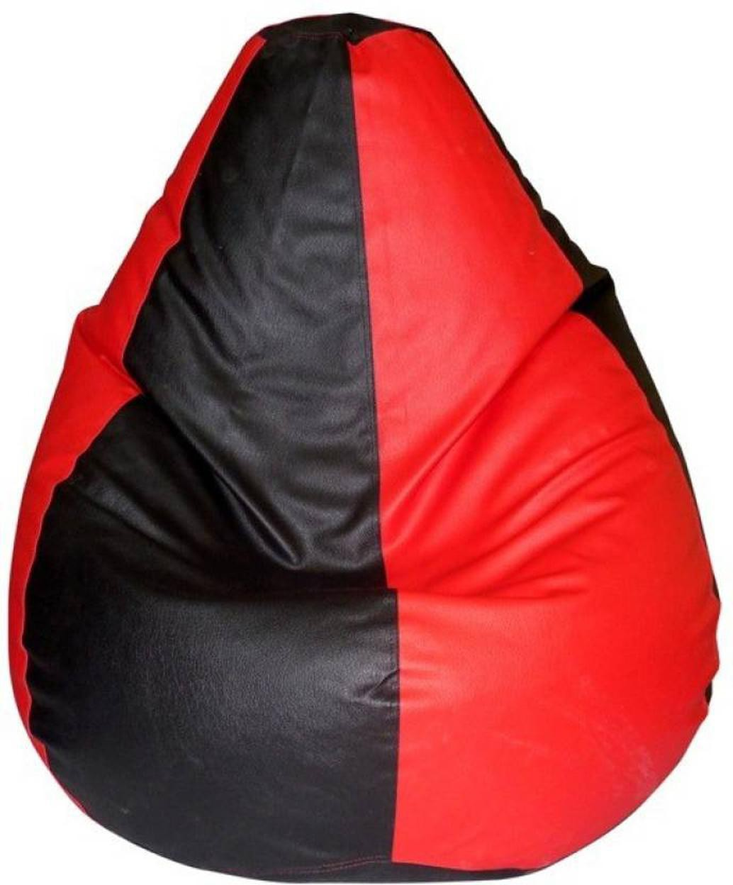 View HELE Large Bean Bag Cover(Red, Black) Furniture (hele)
