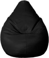 Psygn XXL Standard Bean Bag   With Bean Filling(Black)