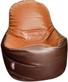 Olybo XXL Bean Chair Cover (Brown)