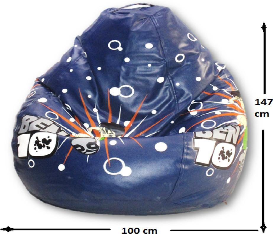 View Sudesh Handloom XXL Bean Bag Cover(Blue, Multicolor) Furniture (Sudesh Handloom)