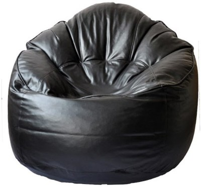 TJAR XXL Leather Cover Bean Bag Sofa  Cover (Without Filling)