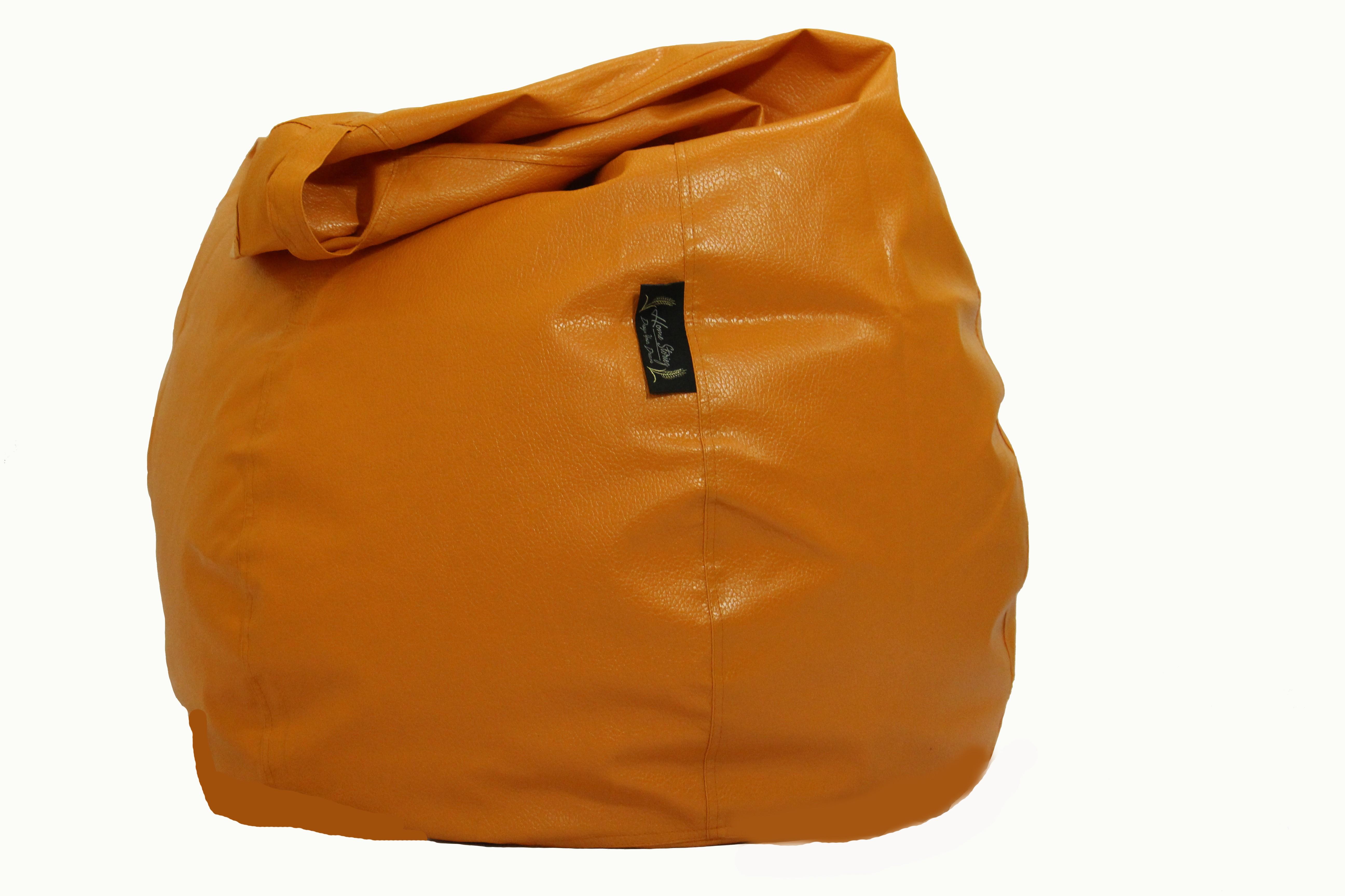 View Home Storiez XL Bean Bag Cover(Orange) Furniture (Home Storiez)