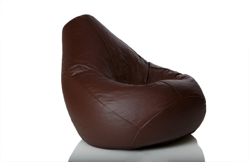 Comfy Bean Bags XL Bean Bag  With Bean Filling(Brown)