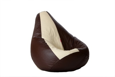 Comfy Bean Bags XXL Bean Bag  With Bean Filling(Brown, Beige)