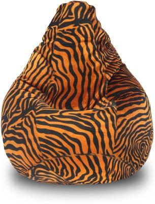Dolphin Bean Bags XL Dolphin Xl Bean Bag-Golden Zebra-With Fillers/Beans Bean Bag  With Bean Filling