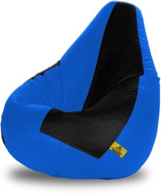 Dolphin Bean Bags XL Dolphin Xl Black&R.Blue Bean Bag-Filled(With Beans) Bean Bag  With Bean Filling