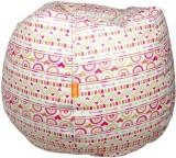 ORKA XL Bean Bag  With Bean Filling (Whi...