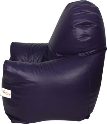 Sattva XXXL Arm Chair Bean Bag Chair  With Bean Filling(Purple)
