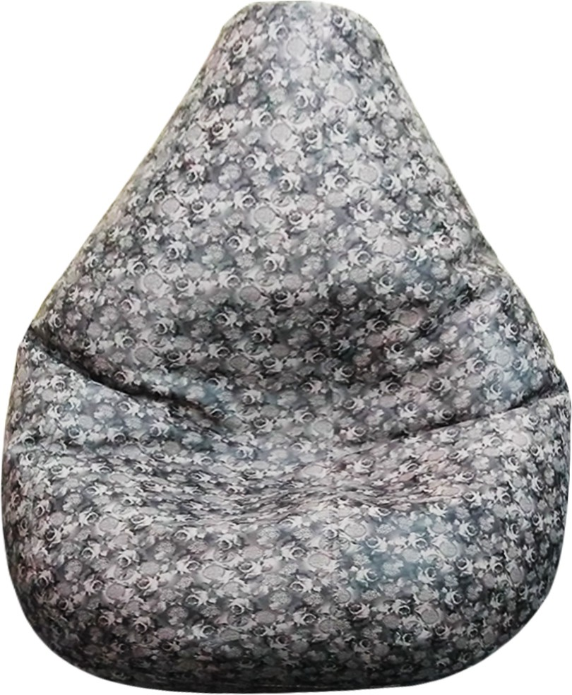 View AdevWorld Large Teardrop Bean Bag Cover(Black, Grey) Furniture (AdevWorld)