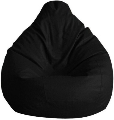 Elite India XXXL Bean Bag Cover(Black)
