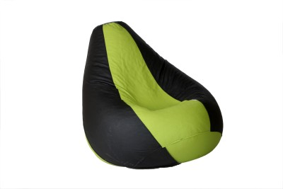 Comfy Bean Bags XXL Bean Bag  With Bean Filling(Green, Black)