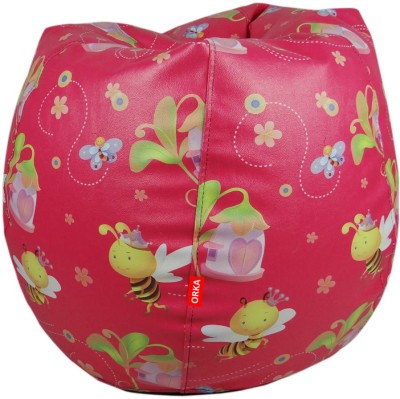 ORKA Color Faries Filled with Beans Leatherette S Teardrop Kid Bean Bag(Bead Filling, Color - Multicolor)