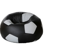 Comfy Bean Bags XL Bean Bag Cover(Black, Grey)