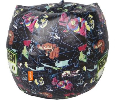 ORKA Ben 10 Series Leatherette S Teardrop Kid Bean Bag(Bead Filling, Color - Multicolor)