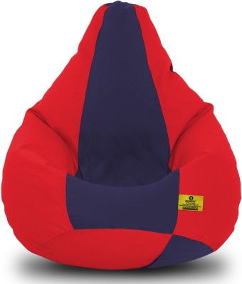 Dolphin Bean Bags XXL Dolphin Xxl Red/N.Blue-Fabric-Filled(With Beans) Bean Bag  With Bean Filling