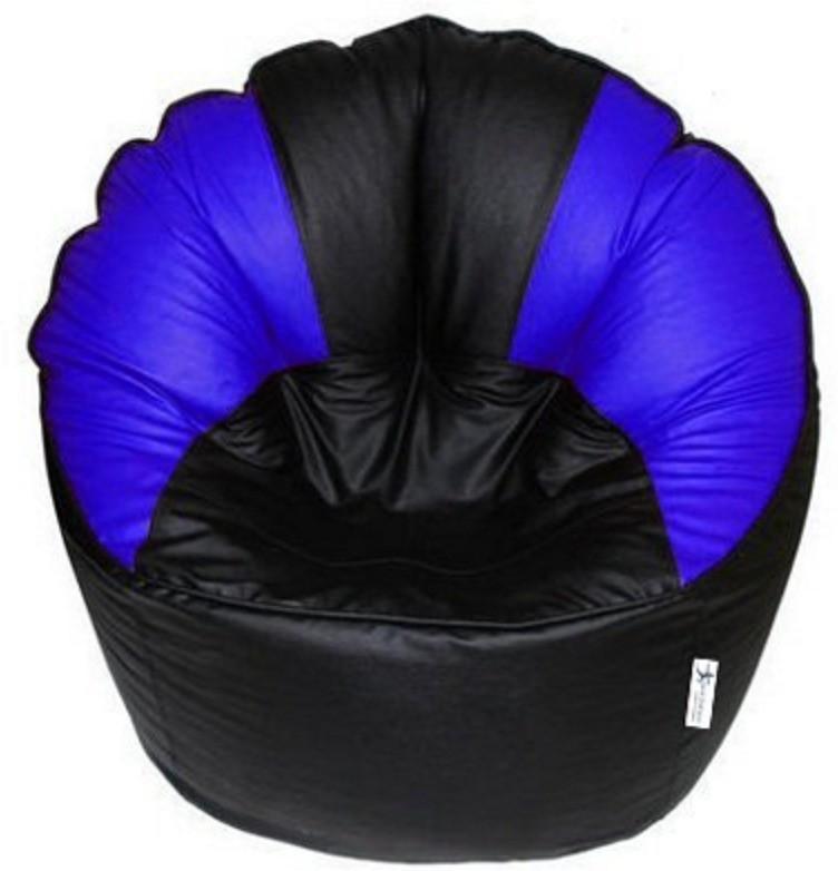 View Elite India XXXL Bean Bag Cover(Black, Blue) Furniture (Elite India)