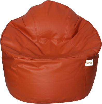 Sattva XXXL Muddha Bean Bag Sofa  With Bean Filling(Orange)