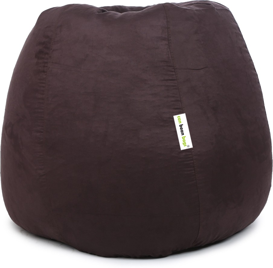 View Can Bean Bag XXL Bean Bag  With Bean Filling(Brown) Furniture (Can Bean Bag)