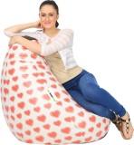 Can Bean Bag XL Bean Bag Cover (Red, Whi...