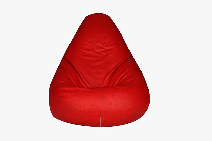 View Desire XL Teardrop Bean Bag  With Bean Filling(Red) Furniture (Desire)