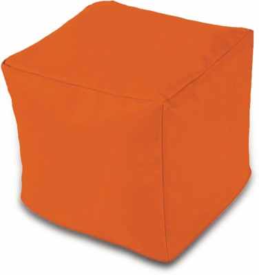 Dolphin Bean Bags Small DOLPHIN PUFFY BEAN BAG-ORANGE-With Fillers/Beans Bean Bag  With Bean Filling