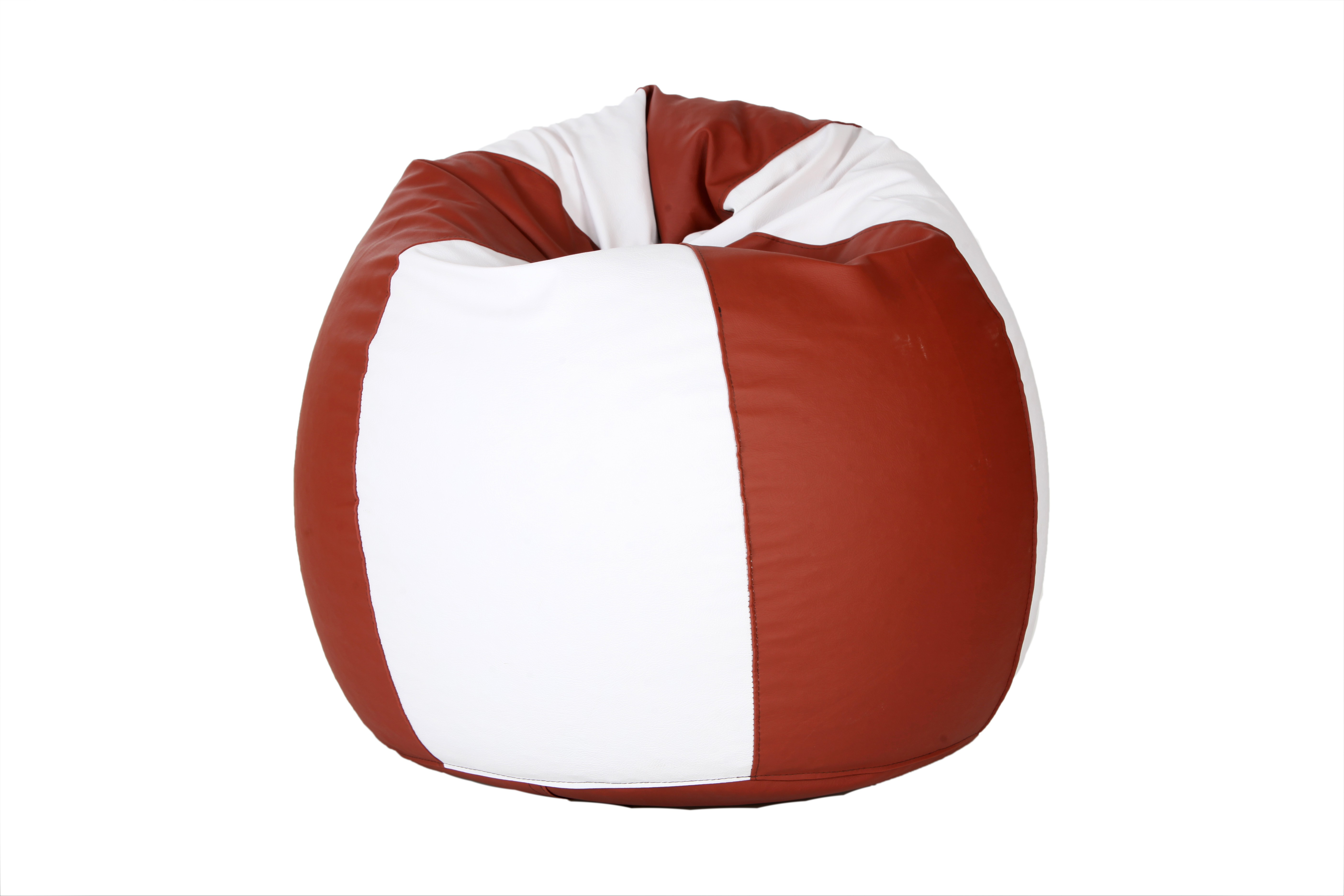 View Comfy Bean Bags XXXL Bean Bag Cover(White, Brown) Furniture (Comfy Bean Bags)