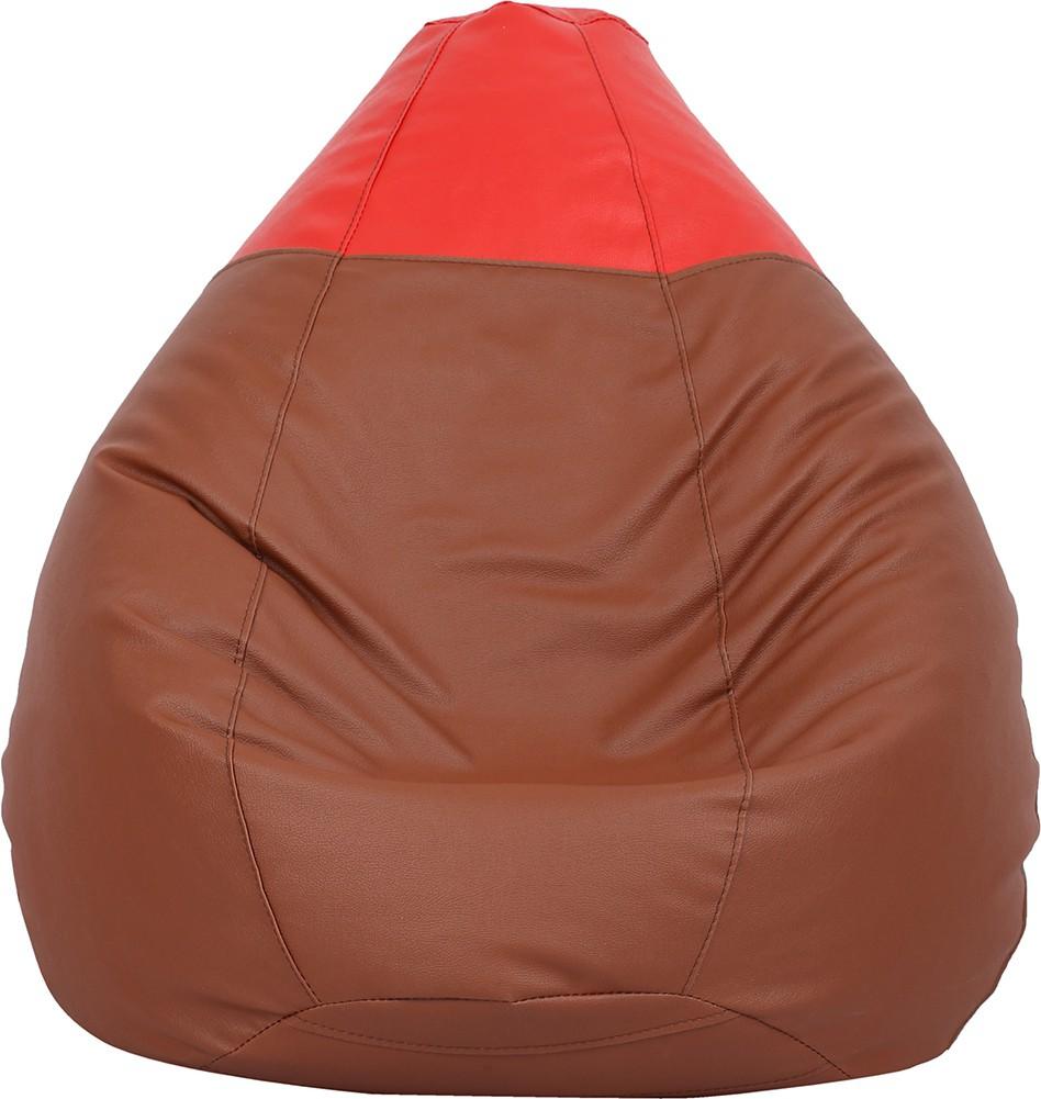 View VizwaSS Small Teardrop Bean Bag  With Bean Filling(Brown, Red) Furniture (VizwaSS)