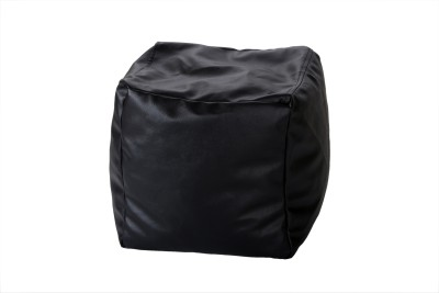 Comfy Bean Bags XXL Bean Bag Footstool  With Bean Filling(Black)