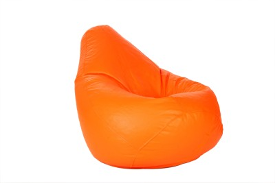 Comfy Bean Bags XXL Bean Bag  With Bean Filling(Orange)