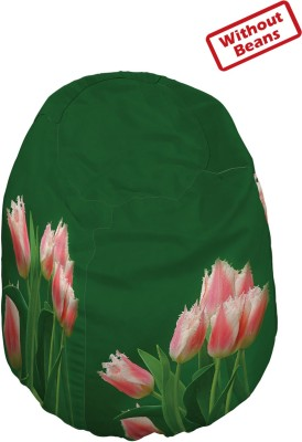 Right Large Teardrop Bean Bag  Cover (Without Filling)