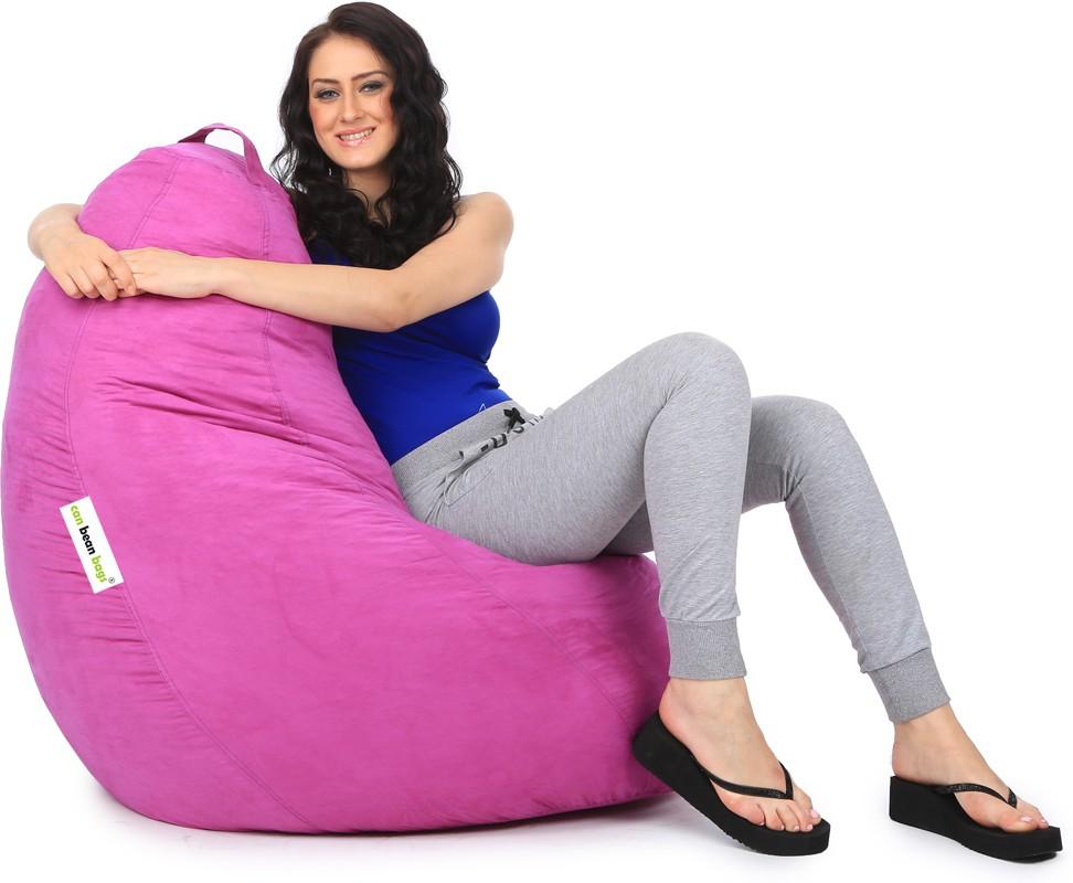 View Can Bean Bag XXXL Bean Bag  With Bean Filling(Purple) Furniture (Can Bean Bag)
