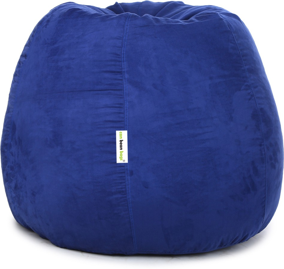 View Can Bean Bag XXXL Bean Bag  With Bean Filling(Blue) Furniture (Can Bean Bag)