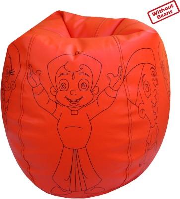 Fun ON XXL Chhota Bheem Teardrop Bean Bag  Cover (Without Filling)