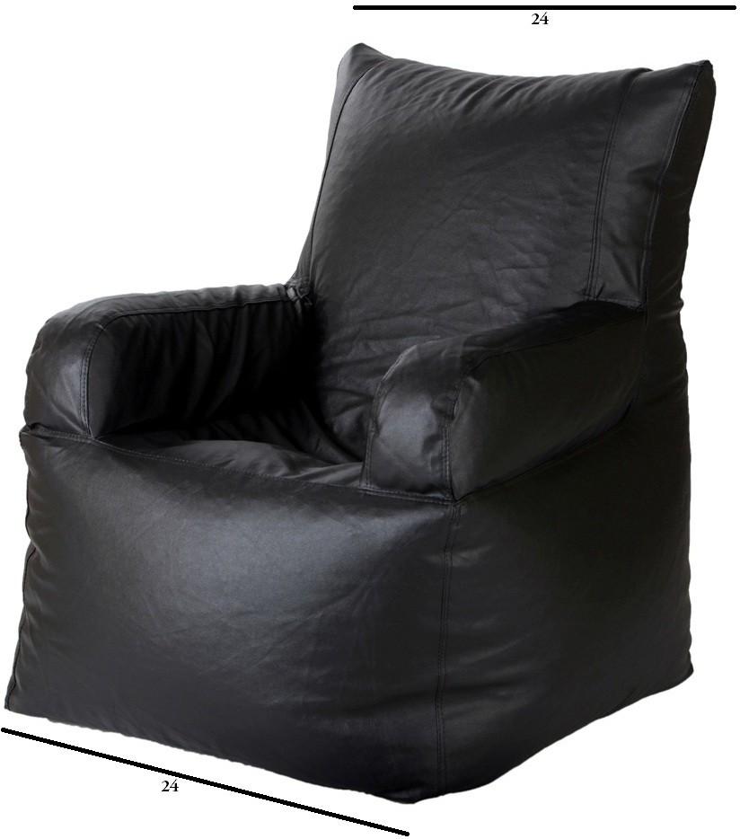 View Casa XXL Lounger Bean Bag  With Bean Filling(Black) Furniture (Casa)
