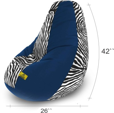 Dolphin Bean Bags XXL Dolphin Xxl R.Blue/Zebra Blk White  Fabric Filled With Beans  Bean Bag  With Bean Filling Multicolor  R.Blue Zebra Blk White  Fa available at Flipkart for Rs.2499
