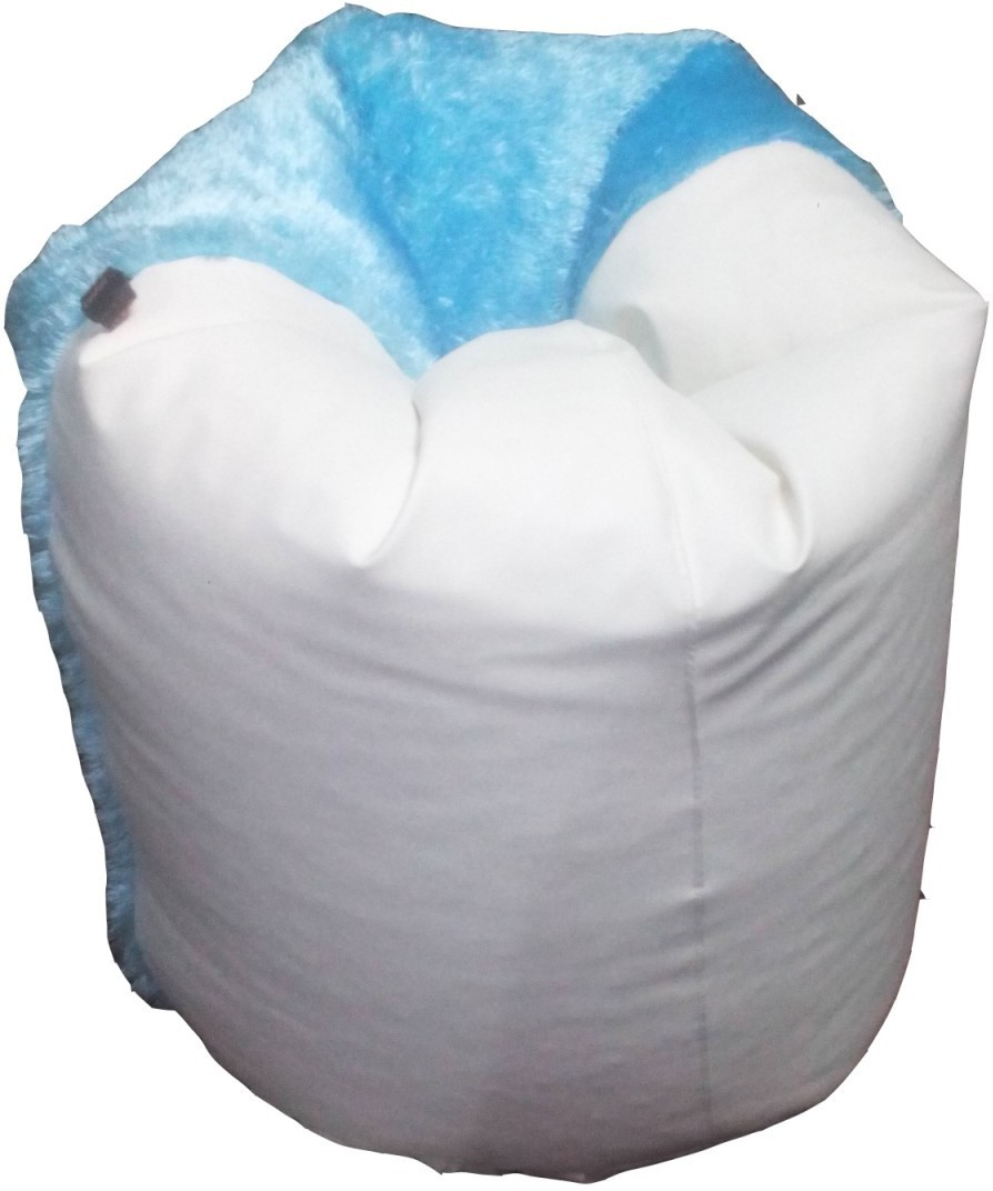 View SRV Medium Bean Bag  With Bean Filling(White, Blue) Furniture (SRV)