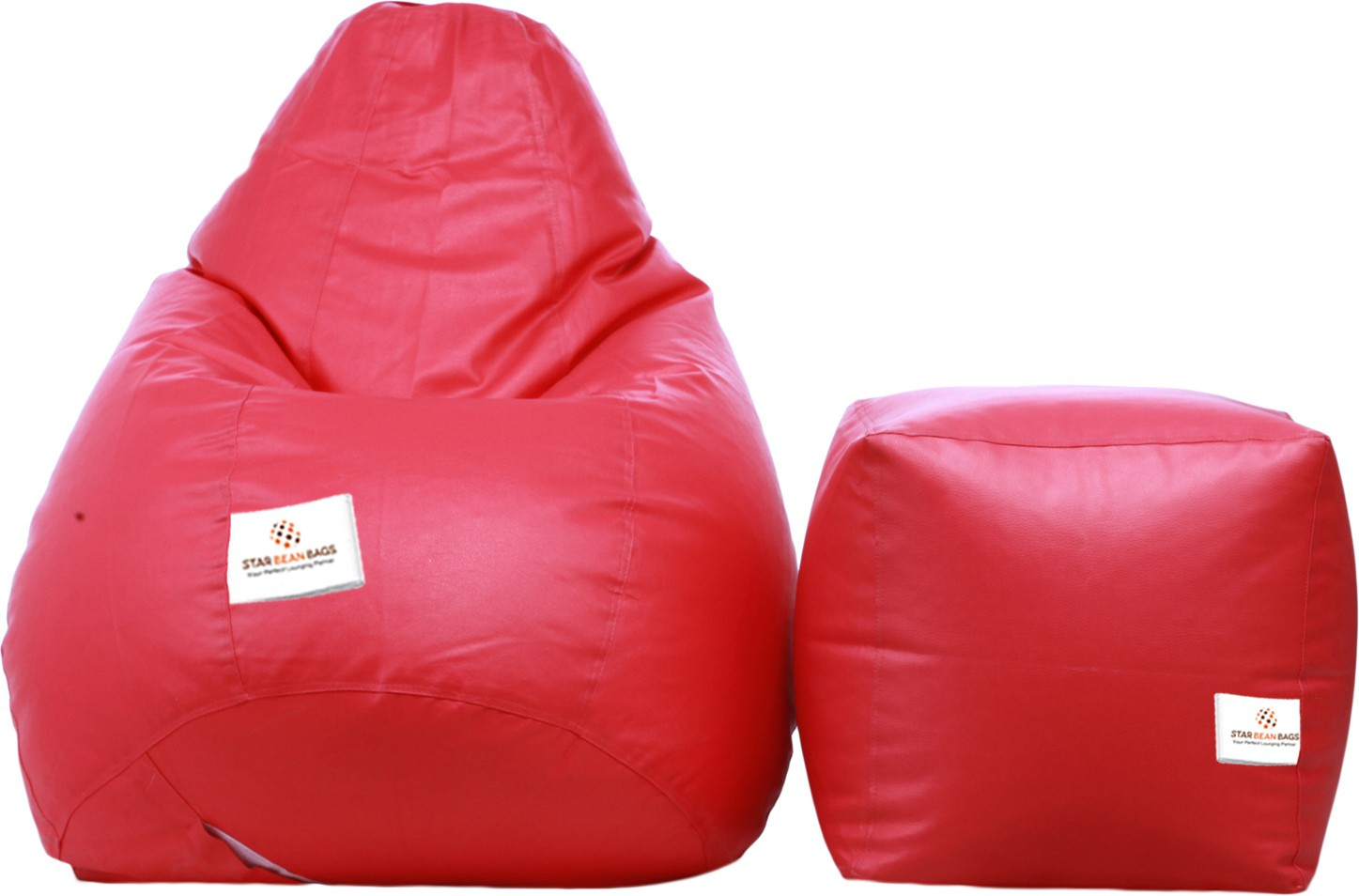 View Star XL Bean Bag  With Bean Filling(Pink) Furniture (Star)