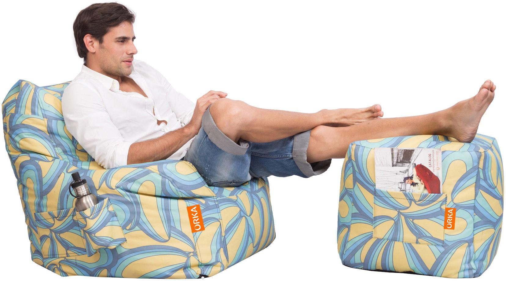 View Orka Bean Bags XXXL Bean Chair Cover(Multicolor) Furniture (Orka Bean Bags)