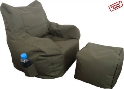 Fun ON XXL Arm Chair Puffy Denier Bean Bag Chair  Cover (Without Filling)