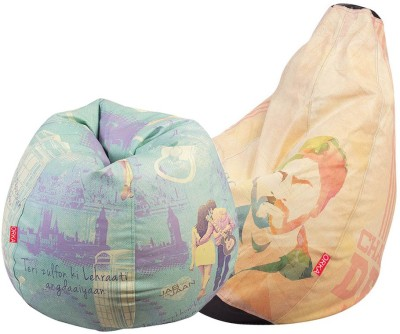 ORKA XXL YRF SET OF 2 - Digital Printed Bean Bag  Cover (Without Filling)