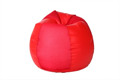 Comfy Bean Bags XXL Bean Bag  With Bean Filling(Red)