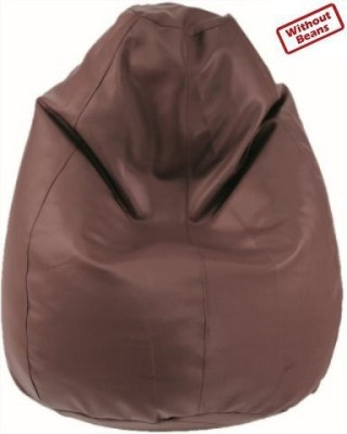 Fab Homez Large brown bean bag cover-large Bean Bag  Cover (Without Filling)