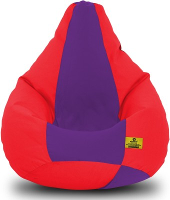 Dolphin Bean Bags XXL Dolphin Xxl Red/Purple-Fabric-Filled(With Beans) Bean Bag  With Bean Filling
