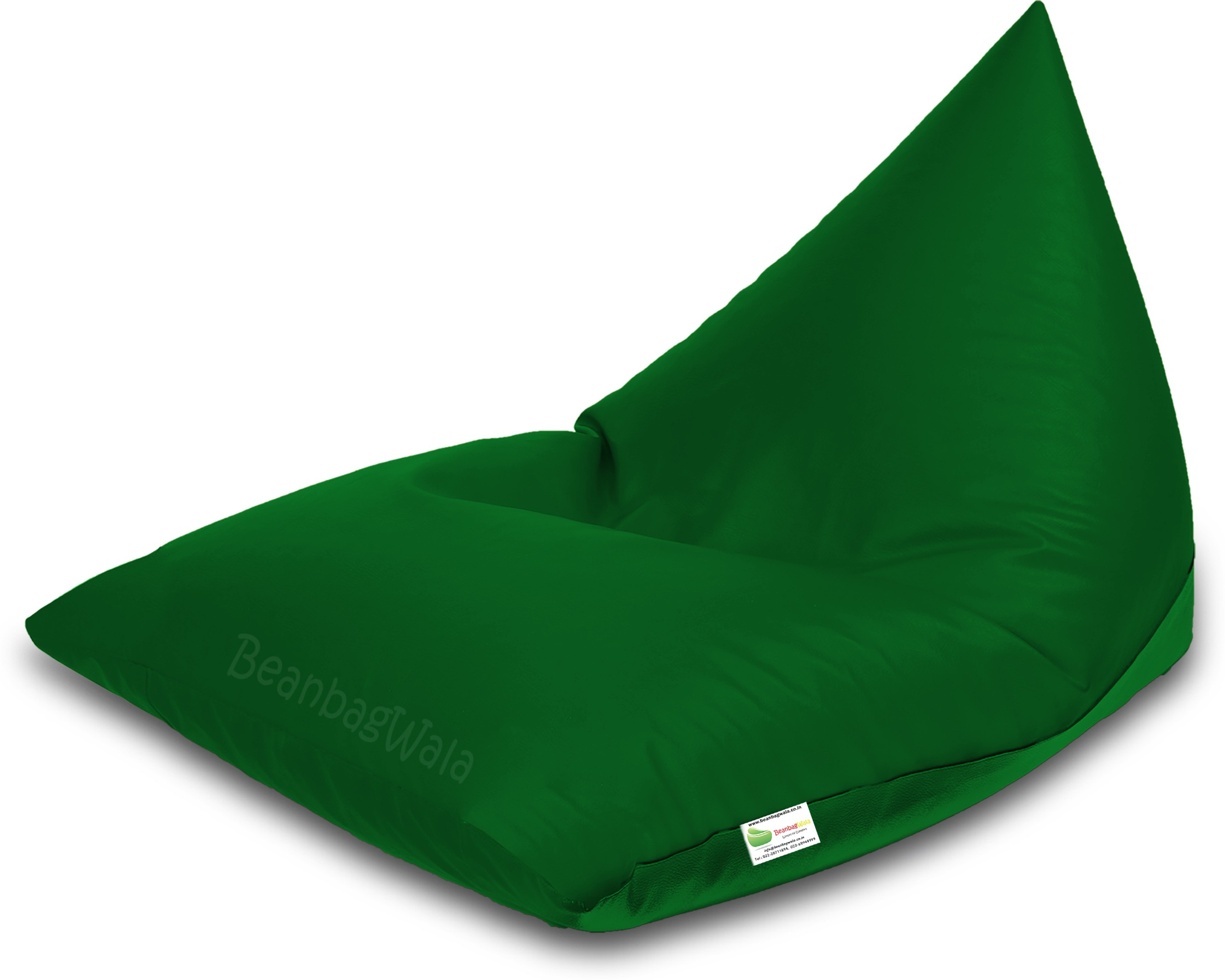 View Bean Bagwala XXXL BBWXXXL-09-Pyrd Bean Bag  With Bean Filling(Green) Furniture (Bean Bagwala)